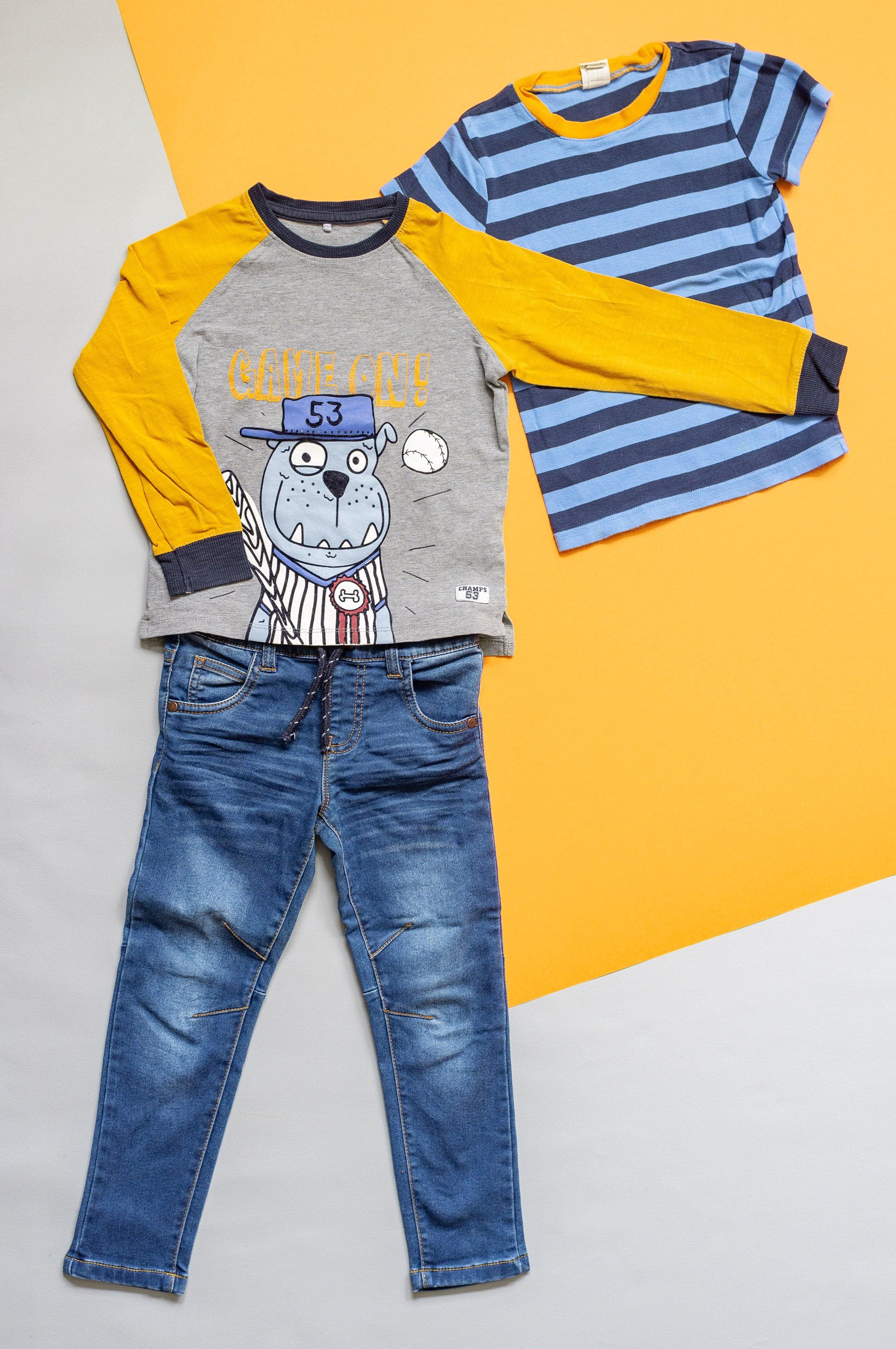 Outfit Gr. 104 für Jungen - 3 Teile - Bio